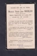 Image Pieuse Souvenir Deces Claude Jules Bourlier Ancien Instituteur  Pagny La Ville - Décès