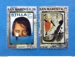 2003 SAN MARINO FRANCOBOLLI NUOVI STAMPS NEW MNH** - EUROPA CEPT L'ARTE DEL MANIFESTO - - Nuovi