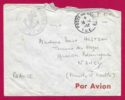 Enveloppe En Franchise Militaire - Poste Aux Armées - Marine Indochine - Service à La Mer - Marcophilie (Lettres)