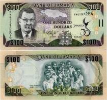 JAMAICA        100 Dollars     Comm.    P-90        6.8.2012        UNC - Giamaica