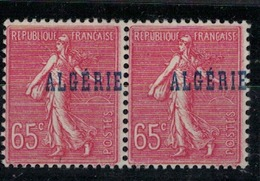 ALGERIE  N° YVERT  :  25 X 2            ( Surcharge  Décalée )    NEUF SANS  CHARNIERES  (NSCH 1/21 ) - Algérie (1924-1962)