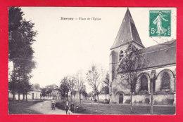 F-80-Hornoy-01A28  Place De L'église, Cpa BE - Hornoy Le Bourg