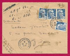 Enveloppe En Franchise Militaire - Poste Aux Armées - TOE - Secteur Postal 50 916 - BPM 403 - Marcophilie (Lettres)