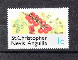 St. Christopher  Nevis Anguilla  - 1978.  Pomodorini. Cherry Tomatoes. MNH - Frutta