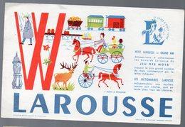 Buvard  LAROUSSE JEU DES MOTS: Le W (PPP10253) - Vloeipapier