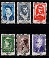 YV 1066 à 1071 Obliteres Celebrites 1956  Cote 48 Euros - France