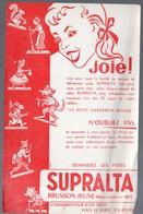 Buvard  SUPRALTA (BRUSSON Jeune)   Pâtes Almentaires (PPP10255) - Food
