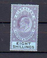 1903  Gibraltar, Edouard VII, 45*, Cote 160 €, - Gibraltar