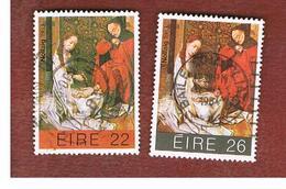 IRLANDA (IRELAND) -  SG 575.576   -    1983 CHRISTMAS (COMPLET SET OF 2)  -     USED - 1949-... Repubblica D'Irlanda