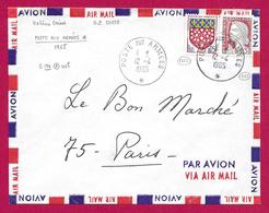 Enveloppe Poste Aérienne - Poste Aux Armées - Secteur Postal 50 838 - Marcophilie (Lettres)
