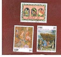 IRLANDA (IRELAND) -  SG 681.683   -    1987  CHRISTMAS   (COMPLET SET OF 3)  -     USED - 1949-... Repubblica D'Irlanda