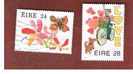 IRLANDA (IRELAND) -  SG 656.657   -    1987  GREETINGS STAMPS   (COMPLET SET OF 2)  -     USED - 1949-... Repubblica D'Irlanda