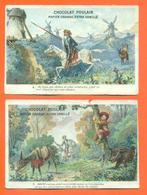 """Lot De 2 CHROMOS Chocolat Poulain """" Don Quichotte """" N° 5 Et 6 - Poulain"""
