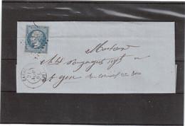 E28 - FRANCE N° 14 - Lettre De EAUZE ( PC1157) Du 21 NOV 1861 Pour AGEN - - 1853-1860 Napoléon III