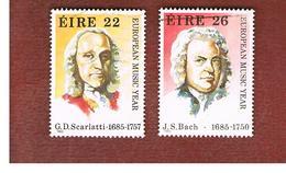 IRLANDA (IRELAND) -  SG 616.617  -    1985  EUROPEAN MUSIC YEAR (SCARLATTI, BACH)  -     USED - 1949-... Repubblica D'Irlanda