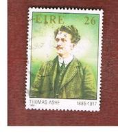 IRLANDA (IRELAND) -  SG 619  -    1985  THOMAS ASHE, PATRIOT   -     USED - 1949-... Repubblica D'Irlanda
