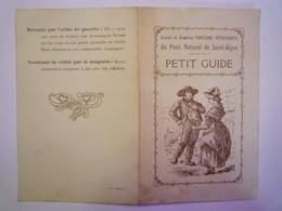 GP 2019 - 512  Petit GUIDE  Fontaine Pétrifiante Du Pont Naturel De SAINT-ALYRE  (63)   XXX - Vieux Papiers