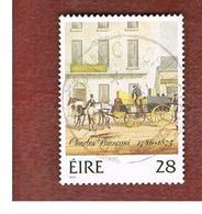 IRLANDA (IRELAND) -  SG 652   -    1986 CHARLES BIANCONI, MAIL COACH SERVICE  -     USED - 1949-... Repubblica D'Irlanda