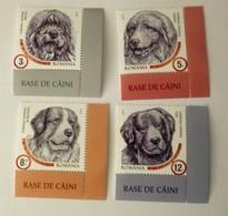 Romania 2019 MNH, Romanian Shepherd Dog Breeds, Chiens, Hunde, Fauna, RIGHT CORNER - MNH - XX-47 - Hunde