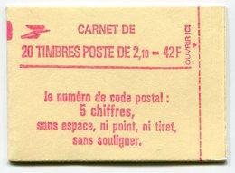 RC 11724 FRANCE CARNET 2319-C4 LIBERTÉ 20 TIMBRES A 2,10f MNH NEUF ** - Carnets