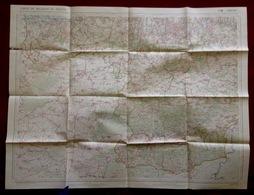 MONS ©1932 CARTE D ETAT MAJOR STAFKAART CHARLEROI BINCHE PHILIPPEVILLE THUIN MAUBEUGE HAUTMONT AVESNES-SUR-HELPE S274 - Mons