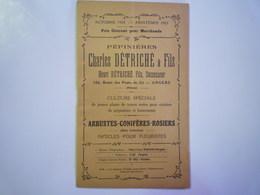 """GP 2019 - 515  CATALOGUE  """"ARBUSTES-CONIFERES-ROSIERS""""  1924  Charles DETRICHE & Fils  ANGERS   XXX - Vieux Papiers"""
