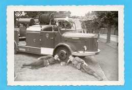 Photo Originale -  Sapeurs-Pompiers - Véhicule Léger HOTCHKISS - Professions