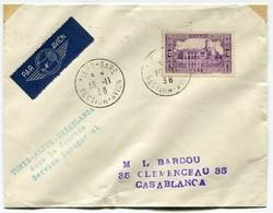 !!! INAUGURATION DU VOL TUNIS CASABLANCA DANS LA JOURNEE 15/11/1938 - Postmark Collection (Covers)