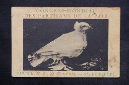 EVÉNEMENTS - Carte Postale - Congrès Mondial Des Partisans De La Paix - Colombe De Picasso - Dans L 'état - L 24387 - Evénements