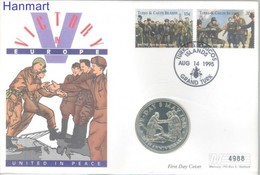 Turks And Caicos 1995 FDC ( LFDC ZS2 TKI1266-1267C ) - Guerre Mondiale (Seconde)