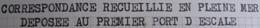 A231 - LETTRE POSTEE EN MER (PAQUEBOT CALEDONIEN) ET DEPOSEE AU 1er PORT D'ESCALE - PAPEETE (ÎLE De TAHITI) à MARSEILLE - Marcophilie (Lettres)