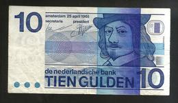 PAYS - BAS / NETHERLANDS / OLANDA - De Nederlandsche Bank - 10 GULDEN  (1968) - 10 Gulden