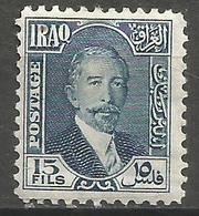 Iraq - 1932 Faisal 15f MH*  SG 144 - Iraq