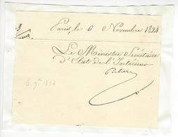 Jacques-Joseph Corbière (1766 - 1853) MINISTRE AUTOGRAPHE ORIGINAL AUTOGRAPH /FREE SHIP. R - Autógrafos