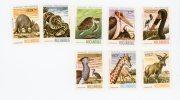 Mozambique-1981-Tortue-Pélican-Giraffe-Serpent-YT 788/95***MNH-VALEUR 8.50 - Mozambique
