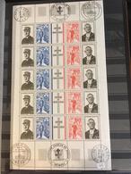 1971 - N°1698A - Exposition De Gaulle - Cachet Paris, Lille Et Metz-** - Feuilles Complètes