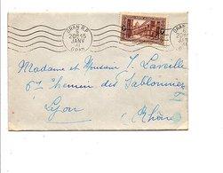 ALGERIE OBLITERATION MECANIQUE SUR LETTRE DE ORAN  POUR LA FRANCE 1941 - Algérie (1924-1962)