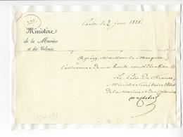 Christophe De Chabrol De Crouzol (1771 - 1836) MINISTRE 1825 AUTOGRAPHE ORIGINAL AUTOGRAPH /FREE SHIP. R - Autogramme & Autographen