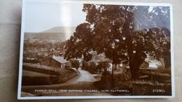 UK - England - Lancashire - Pendle Hill From Downham Village Near Clitheroe - Real Photo - Inghilterra