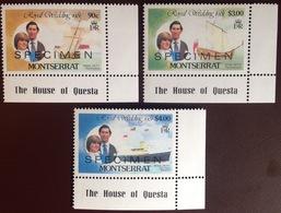 Montserrat 1981 Royal Wedding Specimen MNH - Montserrat