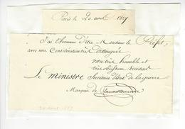 Aimé Marie Gaspard De Clermont-Tonnerre (1779 - 1865) MINISTRE 1827 AUTOGRAPHE ORIGINAL AUTOGRAPH /FREE SHIP. R - Autographes