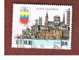 IRLANDA (IRELAND) -  SG 688   -    1988   DUBLIN MILLENNIUM      USED - 1949-... Repubblica D'Irlanda