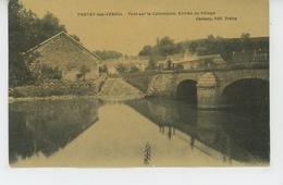 FROTEY LES VESOUL - Pont Sur La Colombine - Entrée Du Village (belle Carte Toilée) - France