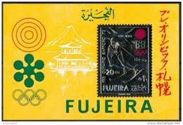 1971 Fujeira Sapporo Giochi Olimpici Olympic Games Jeux Olympiques  Printing Gold & Silver MNH** B54 - Fujeira