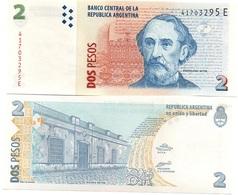 Argentina - 2 Pesos 2002 AUNC Pick 352(2) Serie E Lemberg-Zp - Argentina
