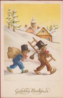 CPA RAMONEUR CHIMNEY SWEEPER SCHOORSTEENVEGER Gelukkig Nieuwjaar Bonne Annee Happy New Year Frohes Neues Jahr - Kinder