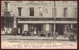 Charleville Grand Hôtel Du Lion D' Argent  Café ( Ardennes 08150 ) Charleville-Mézières Cp Animée Charleville Mézières - Charleville