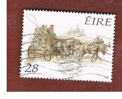 IRLANDA (IRELAND) -  SG 727    -    1989  IRISH MAIL  COACH SERVICE    USED - 1949-... Repubblica D'Irlanda
