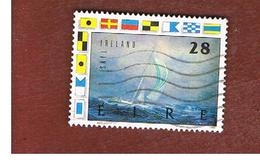 IRLANDA (IRELAND) -  SG 732    -    1989  WORLD YACHT RACE: NCB IRELAND    USED - 1949-... Repubblica D'Irlanda