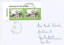 Cote D'Ivoire Ivory Coast 2019 Soubre UPU 250f 500f Se-tenant UNESCO World Heritage Grand Bassam Cover - UNESCO